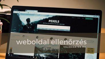 weboldal ellenőrzés