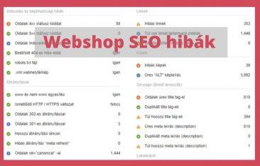 webshop seo hibák