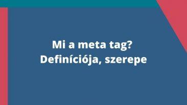 meta tag definíciója